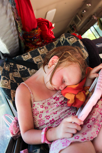Brioni fallen asleep in her carseat, November 2012
