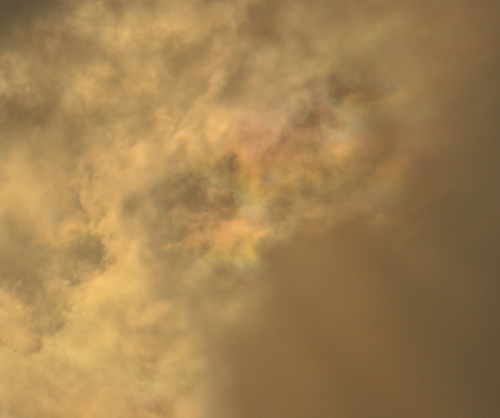 Rainbow colours in the cloud, Solar Eclipse, Eastern Australia, November 2012