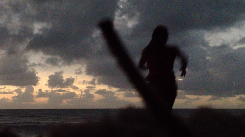 Running into the ocean during the solar eclipse, November 2012