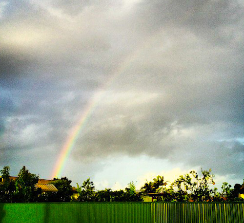 Rainbow over Innisfail, Far North Queensland, November 2012