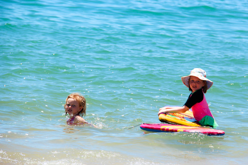 Brioni and Aisha in the water at Mackay, November 2012