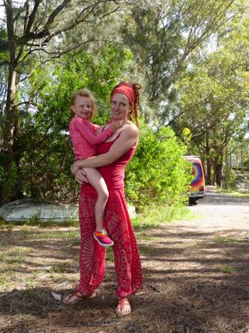 Brioni and Lauren at Lake Conjola, December 2012
