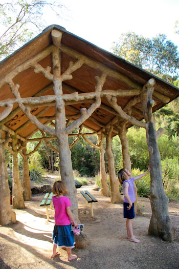 Picnic shelter at Cataract Gorge Reserve, Launceston, December 2012