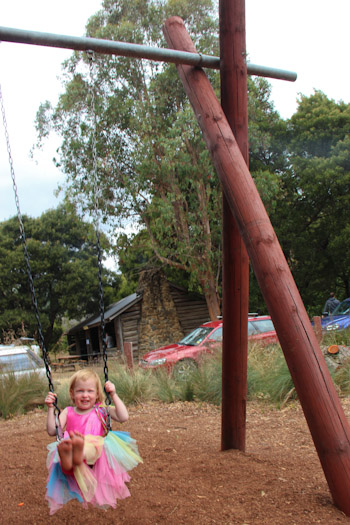 Delaney at the Playground at Mount Field National Park, December 2012