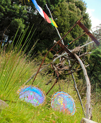 Camping at Rainbow Gathering, Tasmania, December 2012