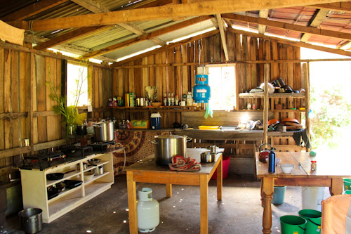 Camp kitchen at Rainbow Gathering, Tasmania, December 2012