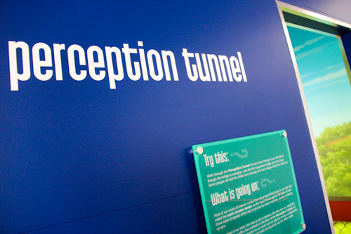 Perception Tunnel at Phenomena Factory, QVMAG, Inveresk, Launceston, Tasmania, January 2013