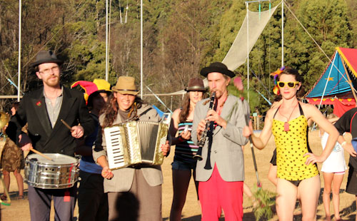 Performers at Tasmanian Circus Festival, January 2013