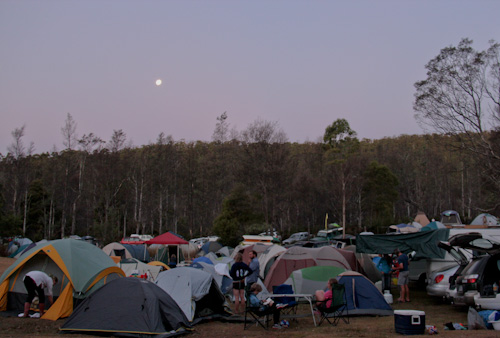 Tents at Tasmanian Circus Festival, January 2013