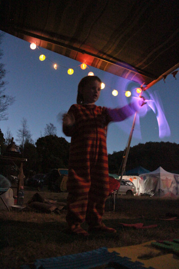Glow sticks at Tasmanian Circus Festival, January 2013