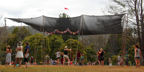Hoop workshop at Tasmanian Circus Festival, January 2013