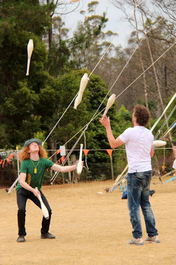 Jugglers at the Tasmanian Circus Festival, January 2013
