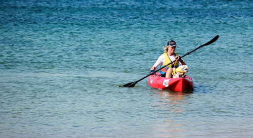 Kayak launch for a new Guinness World Record, Bellerive Beach, Hobart, Tasmania, February 2013
