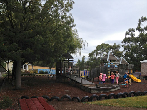 Playground at Taroona Community Hall, February 2013