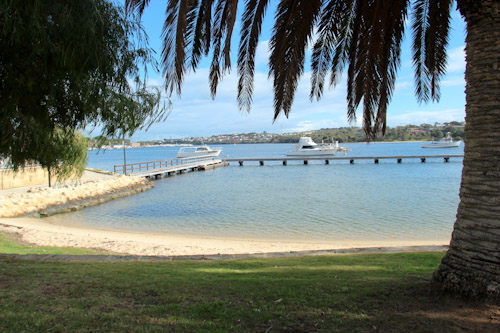 Beach on the Swan River, Bicton, Melville, Perth, July 2013