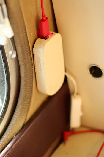 USB port in the Gifted Gypsy, August 2013