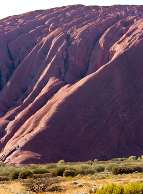 Climbers on Uluru, Northern Territory, August 2013