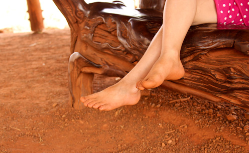 Barefoot at the Red Centre, Northern Territory, August 2013