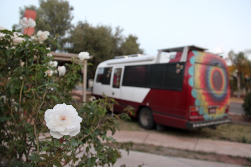 The Gifted Gypsy parked in Alice Springs, August 2013