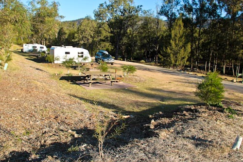 Camping at Mann River Nature Reserve, October 2013
